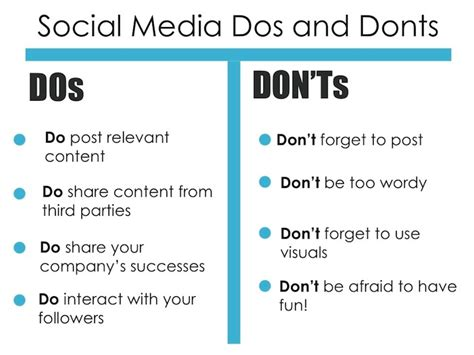 the dos and don ts of social media