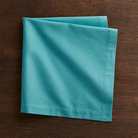 Fete Aqua Blue Cloth Napkin   Crate and Barrel