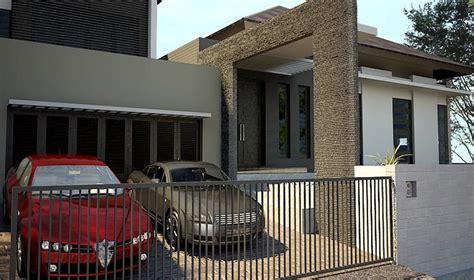 denah rumah garasi   type rumah minimalis  lantai