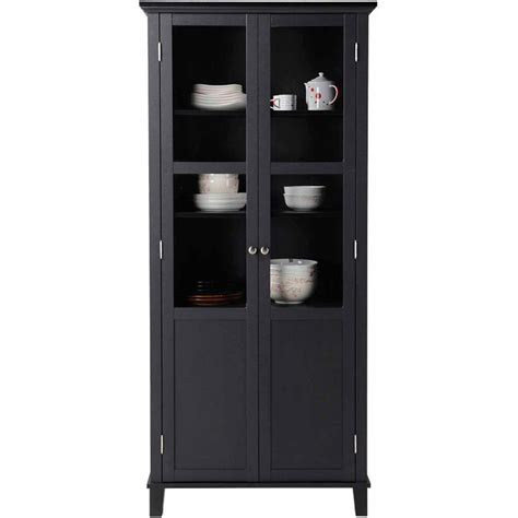2 Door Pantry Cupboard by 2 Door Storage Cabinet Glass China Cupboard Pantry Armoire
