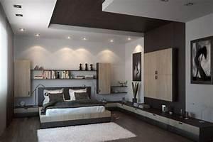 faux plafond moderne dans la chambre a coucher et le salon With spot chambre a coucher