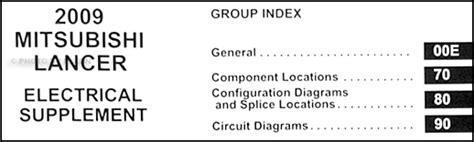 2008 mitsubishi lancer wiring diagram manual original