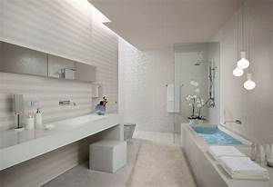 white stripe bathroom tiles interior design ideas With carrelage adhesif salle de bain avec lustre a led design