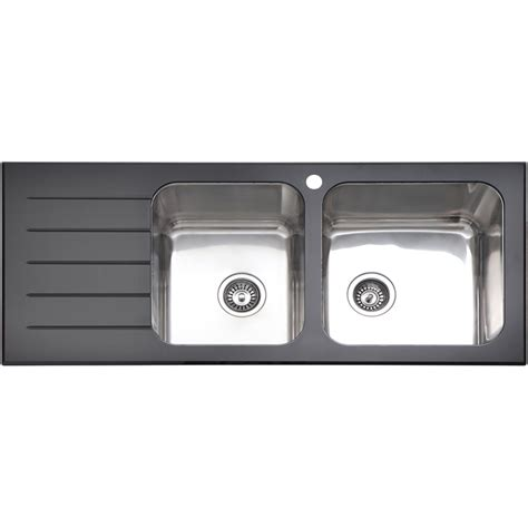 kitchen sink bunnings sink mondella 1 3 4 quot black glass bunnings warehouse 2597