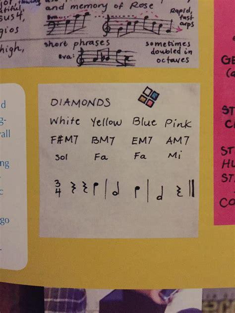 diamonds   chords assigned