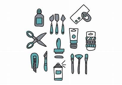 Craft Tools Vector Doodled Vecteezy Clipart Vectors