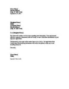 Termination Letter Archives Sample Letter