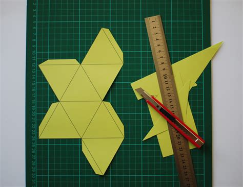 beautiful paper polyhedron mobile