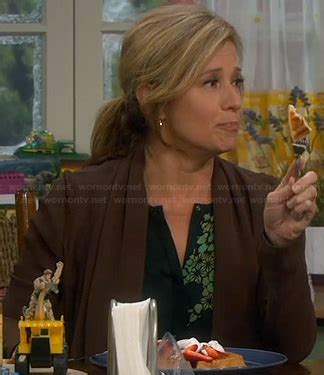 WornOnTV: Vanessa's black and green printed blouse on Last ...