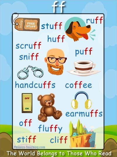 Ff Words Phonics Poster  Ff Word List  Free & Printable