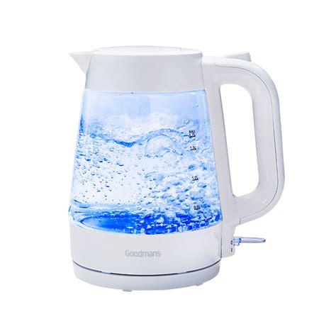 bm goodmans glass kettle white  bm