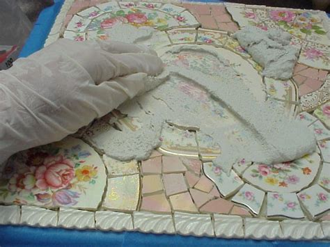 grouting mosaic tile broken china mosaic how to how to grout your mosaic surface