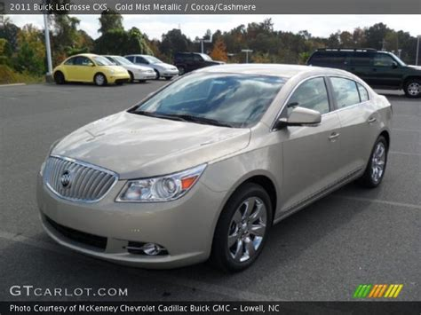 Buick Lacrosse 2011 Cxs by Gold Mist Metallic 2011 Buick Lacrosse Cxs Cocoa