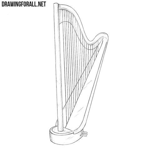 draw  harp drawingforallnet
