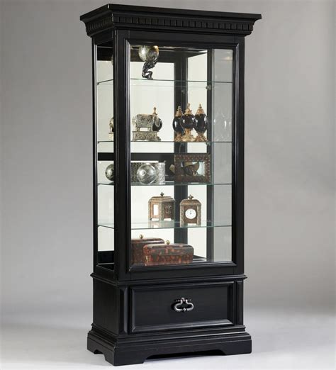 Pulaski Curio Display Cabinet In Black Granite by Curios Brookfield Sliding Front Door Curio Cabinet By