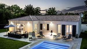 maison traditionnelle avec piscine youtube With photo maison avec piscine