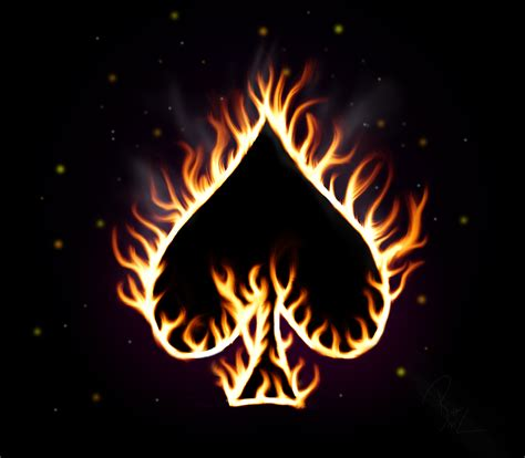 Ace Of Spade Wallpaper Spade Of Flames By Tnrmercenary On Deviantart