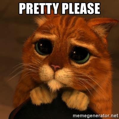 Pretty Please  Shrek Cat V1  Meme Generator