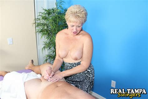 Mature Sex Mature Woman Giving Handjob
