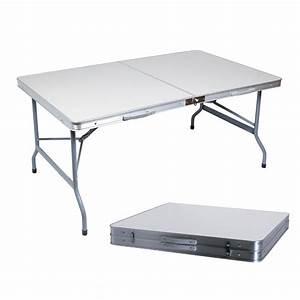 Table Pliante De Camping : table de camping valise goliath 150x80cm ~ Melissatoandfro.com Idées de Décoration