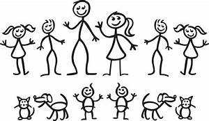 Clipart stick people family