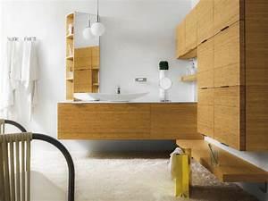 Meuble pour salle de bain suspendu avec rangement meuble for Salle de bain design avec rangement haut salle de bain
