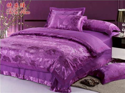 jacquard purple king size bedding sets 4pcs bedding
