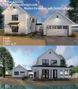 modern farmhouse floor plans plan 62650dj modern farmhouse plan with 2 beds and semi detached garage modern farmhouse