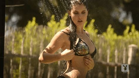 Amanda Cerny Shower By Playboy Find Share On Giphy