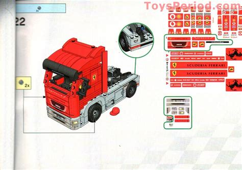 lego  scuderia ferrari truck set parts inventory