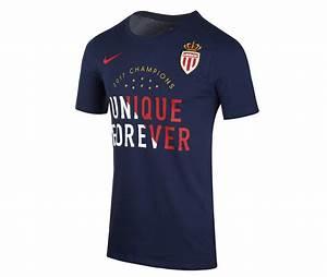 T Shirt Champion Homme : t shirt as monaco champions bleu boutique 100 sport ~ Carolinahurricanesstore.com Idées de Décoration