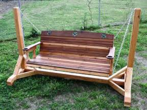 outdoor wooden porch swing plans