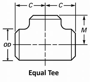 Pipe Tee Dimensions
