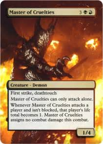 master of cruelties mtg altered art foil proxy for sale
