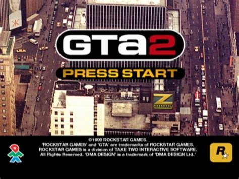 Grand Theft Auto 2 Playstation Title Screen