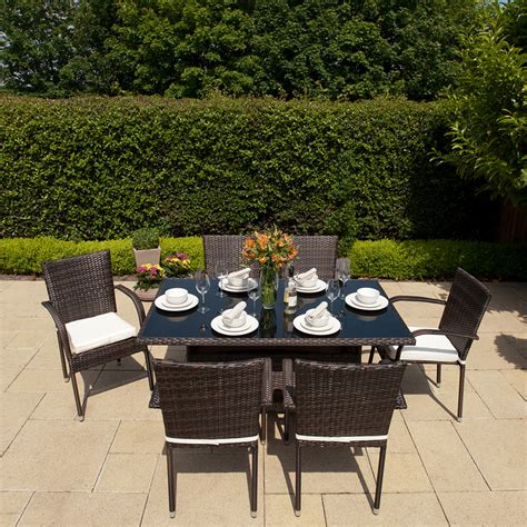Garden Dining Set Sale by Greenfingers 6 Seater Dining Set Blackbrown On Sale Fast