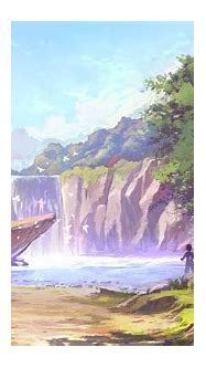 Anime Waterfall Wallpapers - Wallpaper Cave