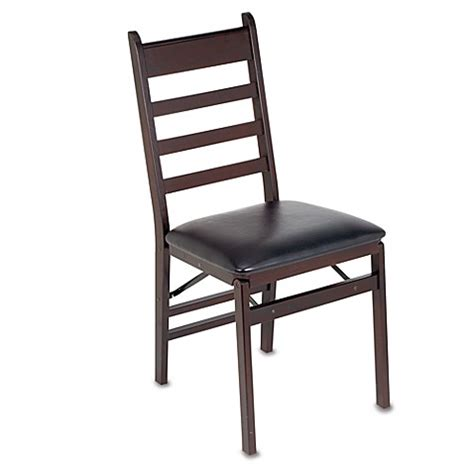 Padded Folding Dining Room Chairs by Cosco 174 Wood Folding Chair With Padded Seat Bed Bath Beyond