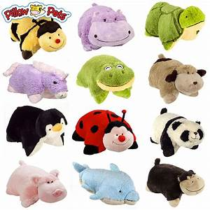 Set of 4 Pillow Pets Pee-Wees Stuffed Animal Plush Kids ...