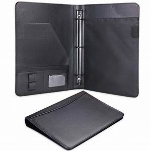 plinrise pu leather file folders for letter size writing With leather letter pad portfolio
