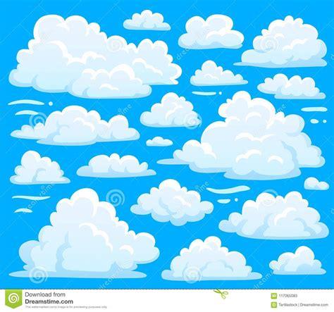Símbolo Branco Da Nuvem Para O Fundo Do Cloudscape Os
