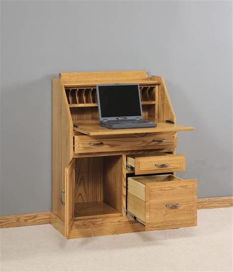 Amish Secretary Desk with File Cabinet Drawer   Filing