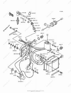 Kawasaki Jet Ski 1991 Oem Parts Diagram For Ignition