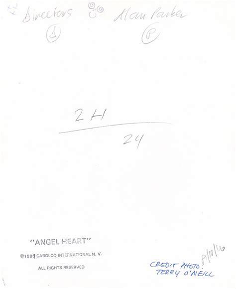 Alan Parker ANGEL HEART Original photograph from the 1987 ...