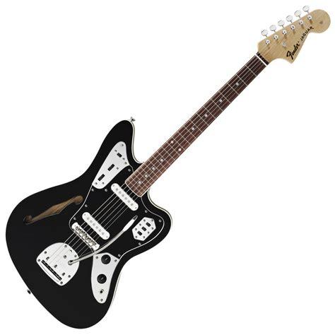 Fender Thinline Jaguar by Fender Special Edition Jaguar Thinline Guitar Black At