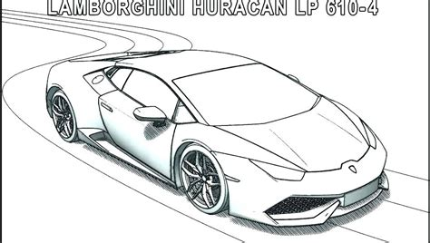 Lamberghini Free Colouring Pages