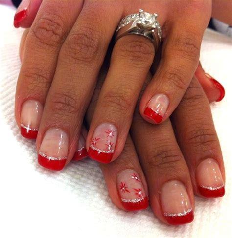 Красный френч на ногтях фото с рисунком и дизайном
