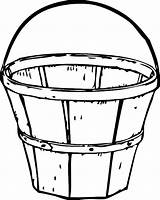 Bucket Coloring Wooden Pages Drawing Traditional Basket Apple Clipart Printable Filler Tocolor Ice Sand Getcolorings Beach Case Fruit Getdrawings Place sketch template
