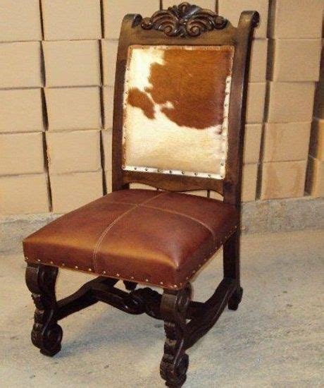 Rustic Cowhide Furniture by Rustic Ranch Furniture Cowhide And Leather Dining Chair