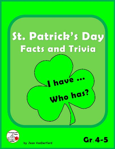 st patricks day facts  trivia game